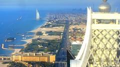 View to Jumeirah beach with Burj al Arab