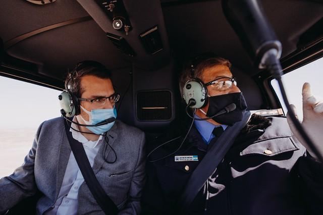 2020-08-20 SEGURIDAD: Controles aéreos en el Este sanjuanino