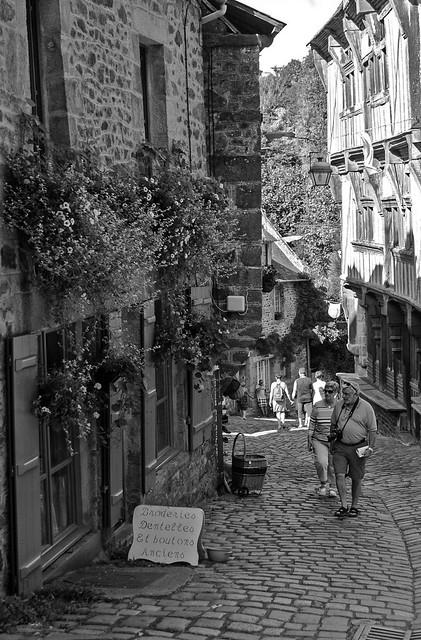 Climbing the street of cobbles - Dinan