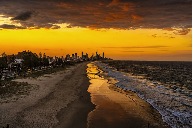 Sunset over Surfers Paradise