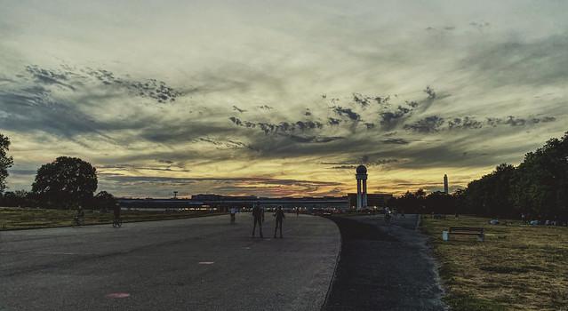 Tempelhofer Feld in the evening