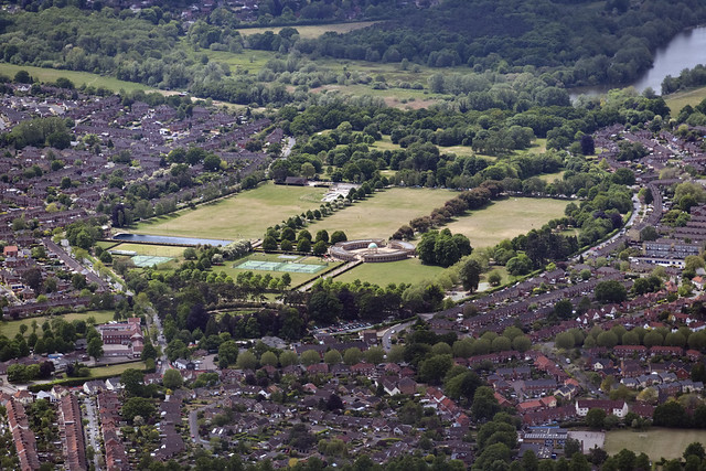 Eaton Park aerial image - Norwich UK