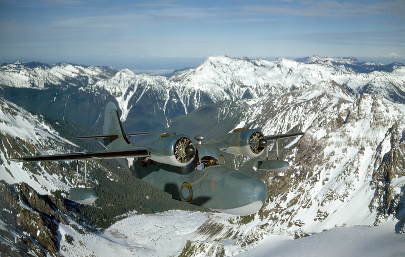 Navy JRF Goose over Alaska