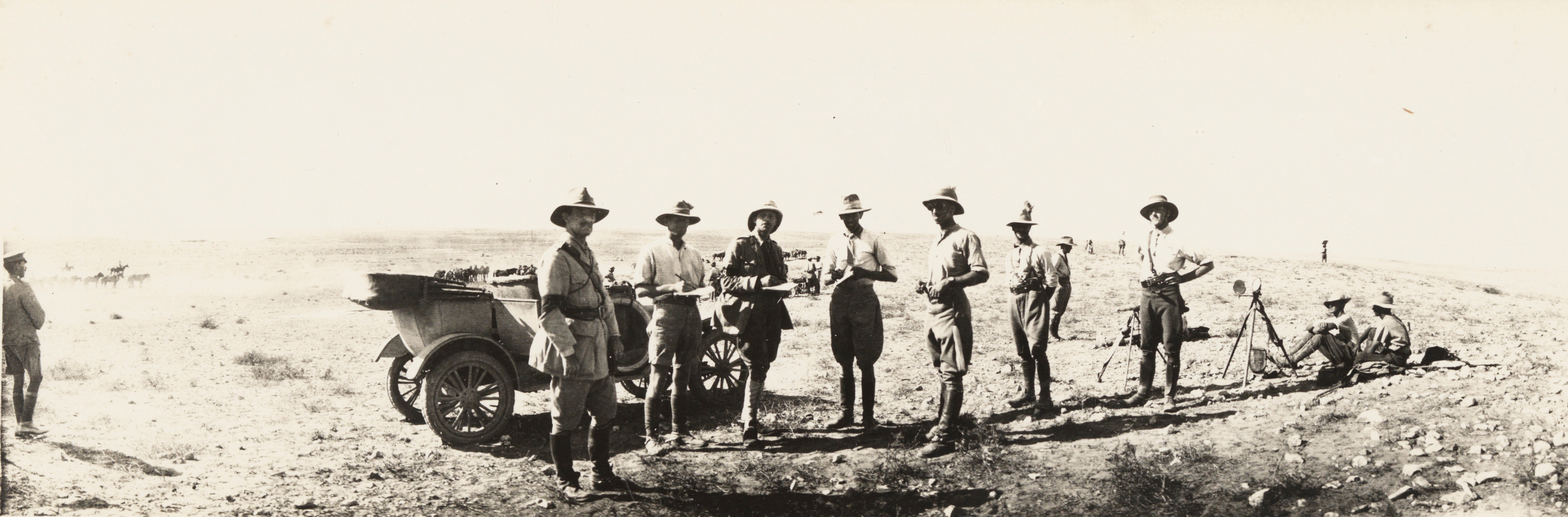 Major General EW Chaytor with staff and Model T Ford Utility, Palestine, 1917, James Allan Chauvel, State Library of New South Wales,