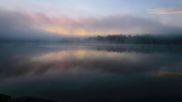 Foggy Morning Reflections - 3663