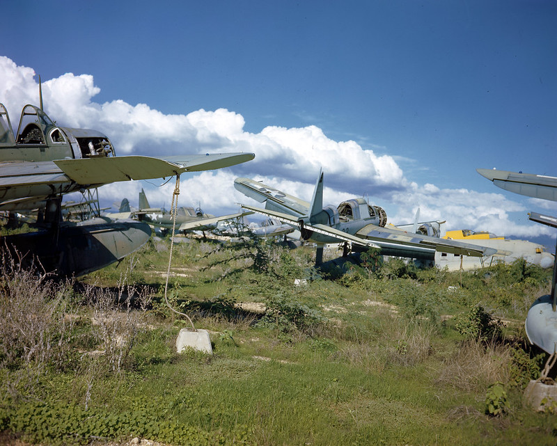 A Naval Air Station boneyard shortly after WW II