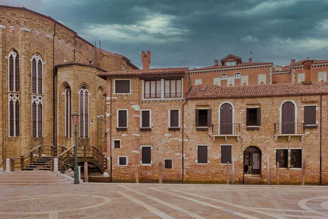 Buildings along Fondamenta Salute, Venezia