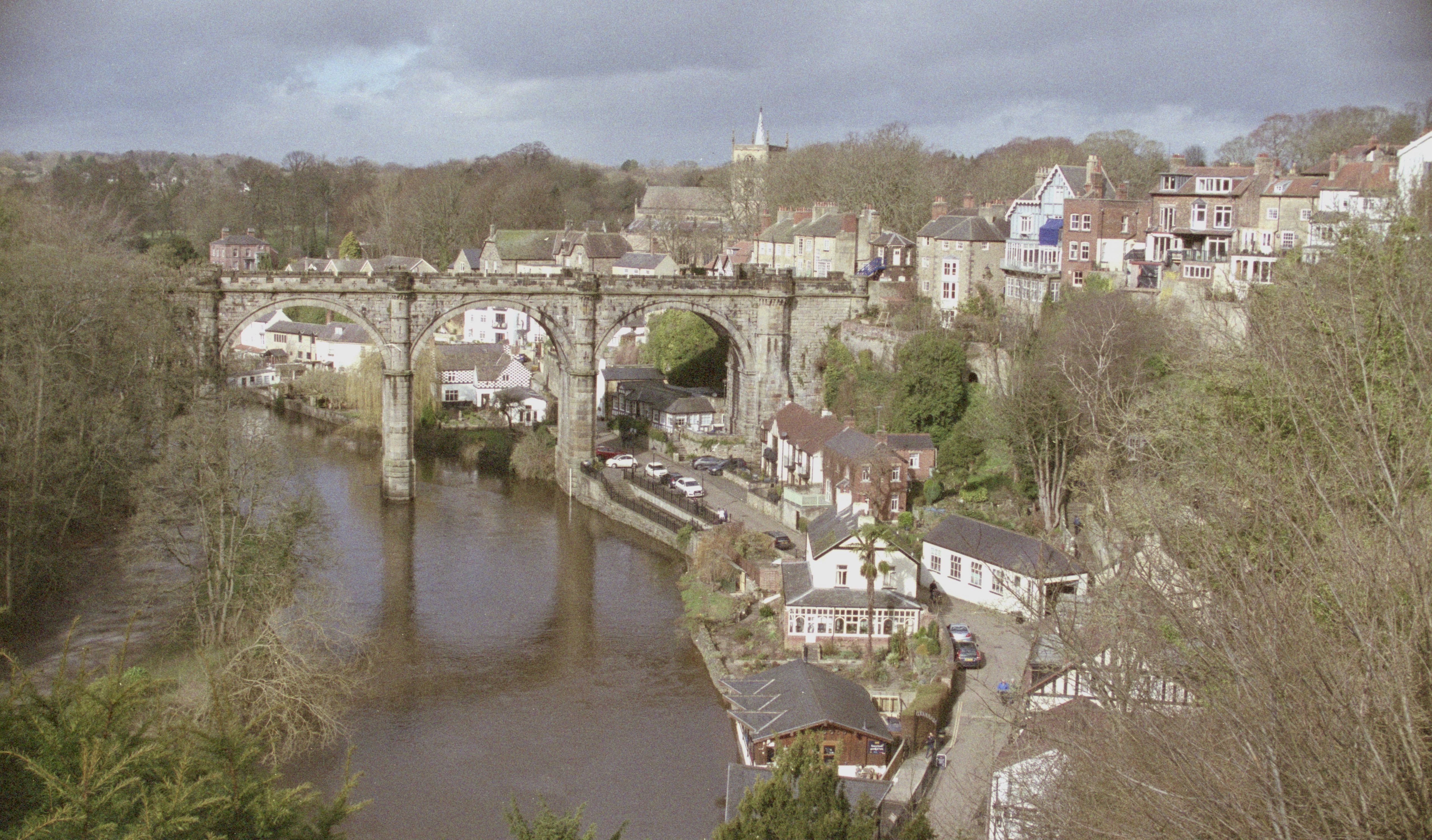 Knaresborough view cropped with river