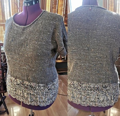 Paulette (@psknitting50) finished her second Tegna by Caitlin Hunter! Yarn is Bergere de France Bigarelle.