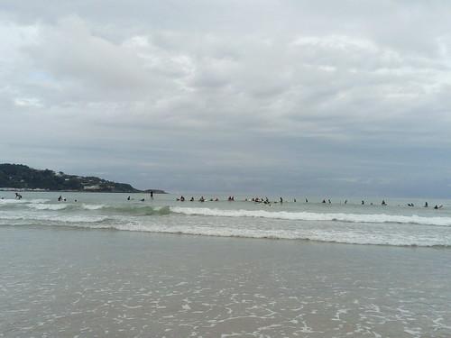 Lo mismo, había olas, que estaba como una balsa.