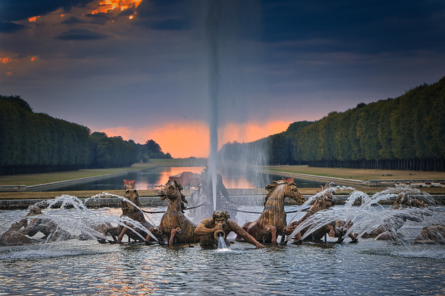 Majestic sunset over Versailles