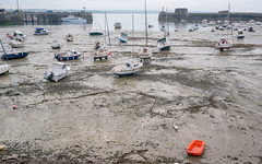 Harbour with low tide