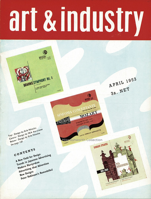 A new field for design - LP record covers feature, Art & Industry, 1953