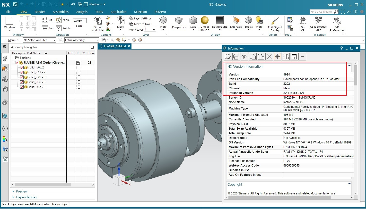Working with Siemens NX 1934 Build 2202 full license