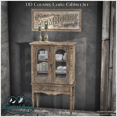 DD Country Curio Cabinet Set AD