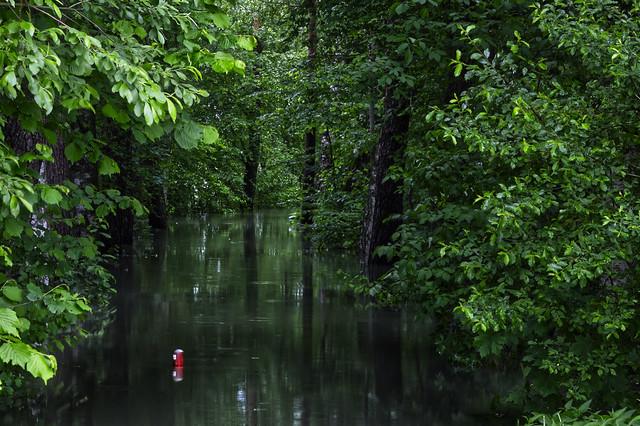 Überschwemmung, Seebruck, Chiemsee