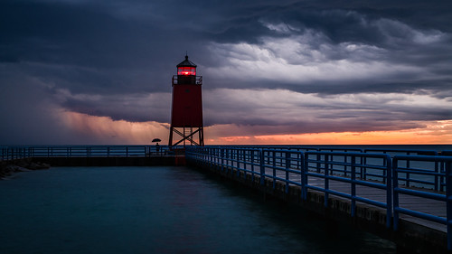 landscape sunset thunderstorm storm rain