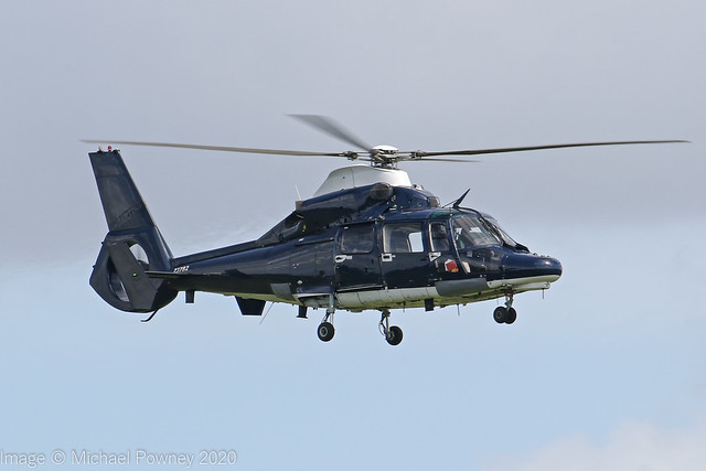 ZJ782 - 2007 build Eurocopter AS365N-3 Dauphin, on approach to Runway 18 at Shawbury