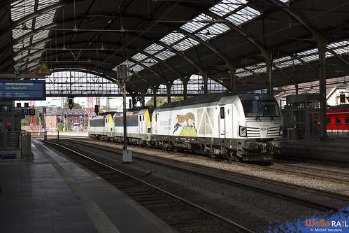 247 901 . PCW 9 + 1807+1862 . SNCB . 91562 . Aachen Hbf. 19.08.20.