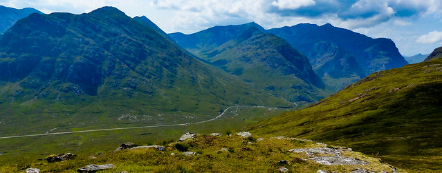 Glencoe and the A82 snaking through