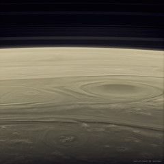 Saturn's Swirling Clouds