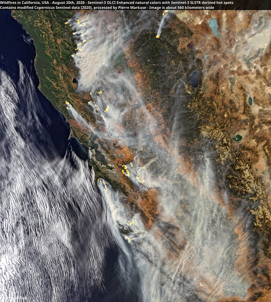 Wildfires in California, USA - August 20th, 2020