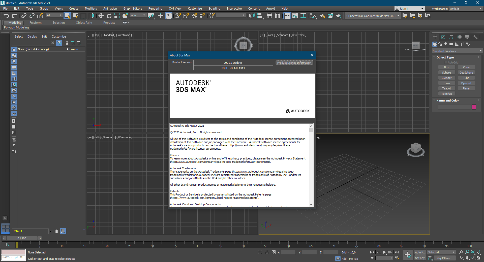 Working with Autodesk 3ds Max 2021.1 full license