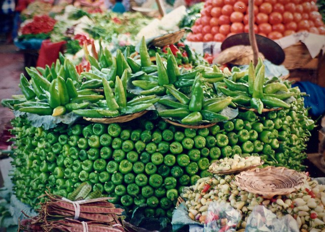 Oaxaca market - veggies