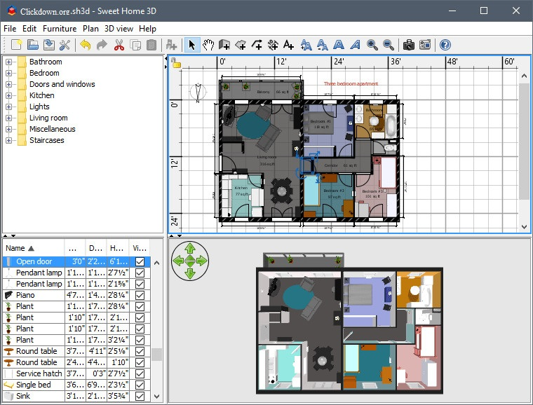 Working with Sweet Home 3D 6.4.2 full