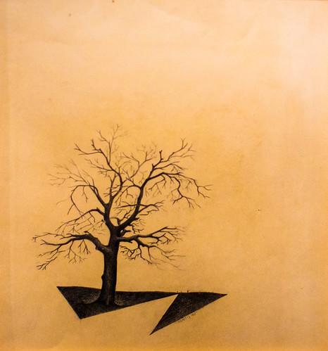 america arizona landscapewithtree philipccurtis philipcurtis phoenix phoenixartmuseum us usa unitedstates unitedstatesofamerica artmuseum painting tree fav10 fav25