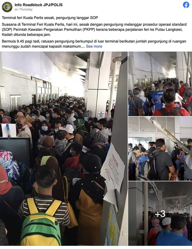 Viral Orang Ramai Langgar SOP di Jeti Kuala Perlis Cetus Kemarahan Netizen
