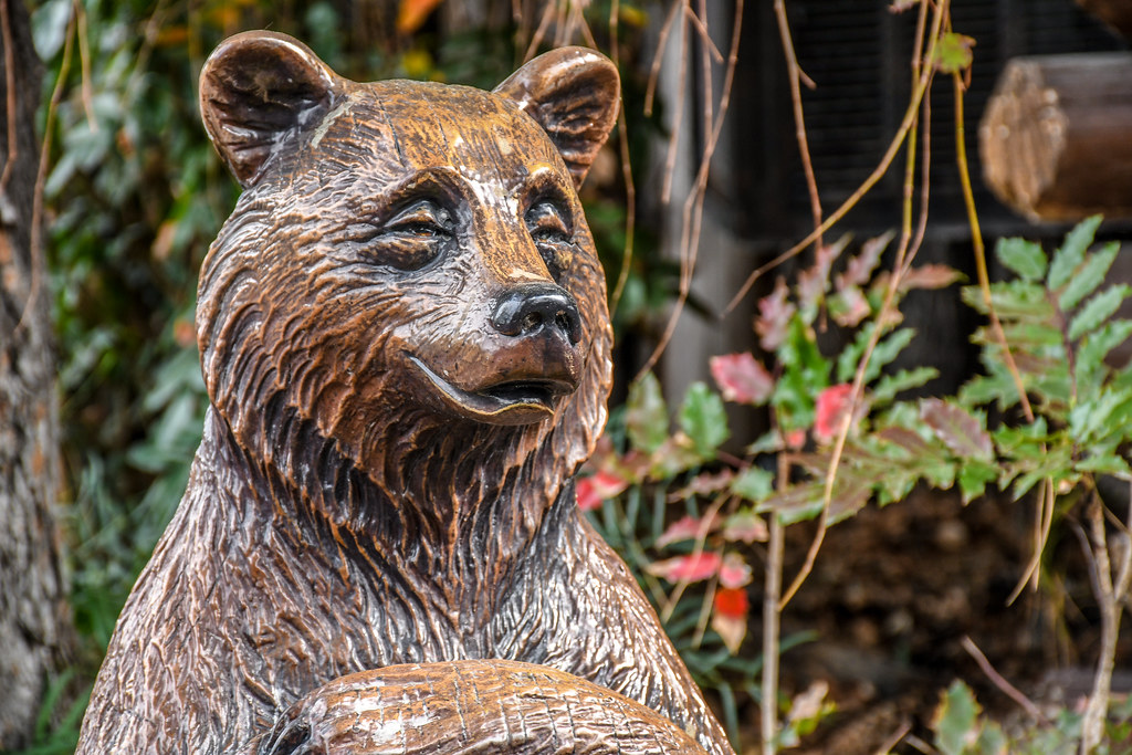 Hungry Bear statue DL