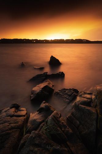 baden bretagne canon1740f4 canon6dmarkii golfedumorbihan nisignd16medium nisind64 nisiv5pro dark eau landscape paysage seascape sunset water