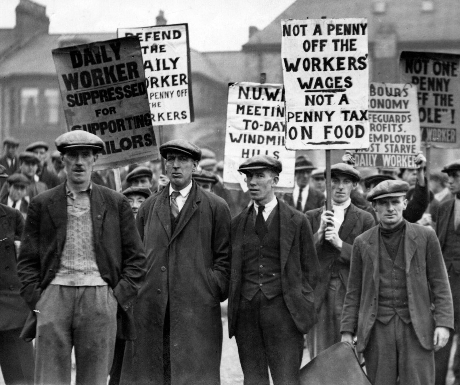 1931. Марш безработных в Ньюкасле. 29 сентября