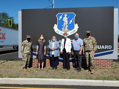 Rep. Zawistowski joined other state and local officials to celebrate the official opening of the new Route 20 entrance to the CT National Guard 103rd Airlift Wing Connecticut National Guard