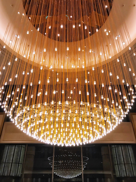 Grand Chandelier in the Lobby of Grand Mayfull Hotel 台北美福大飯店 in Taipei