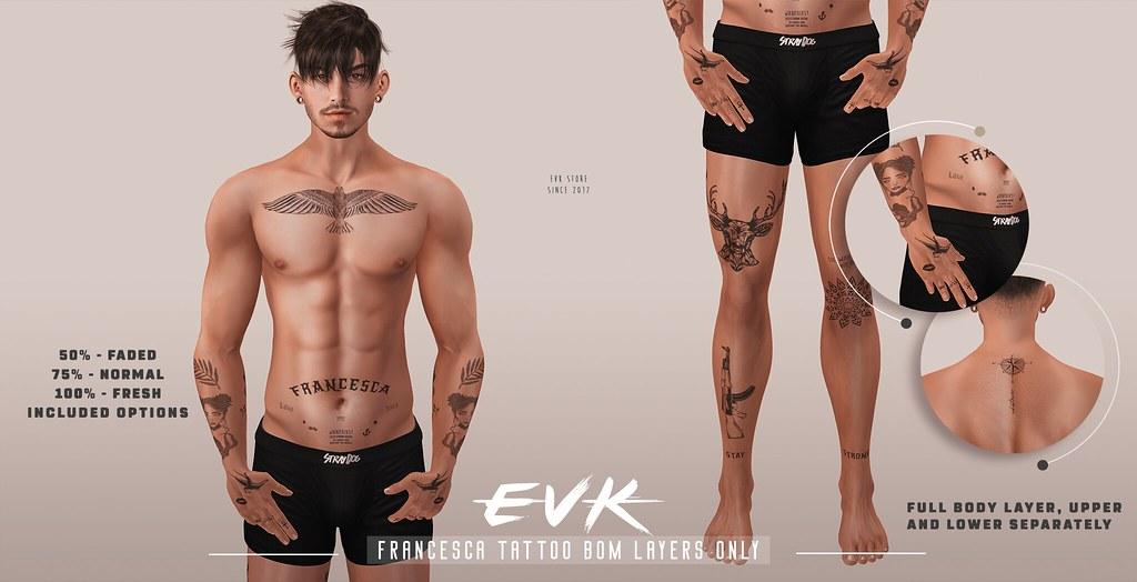 [ E V K ] Francesca Tattoo BOM