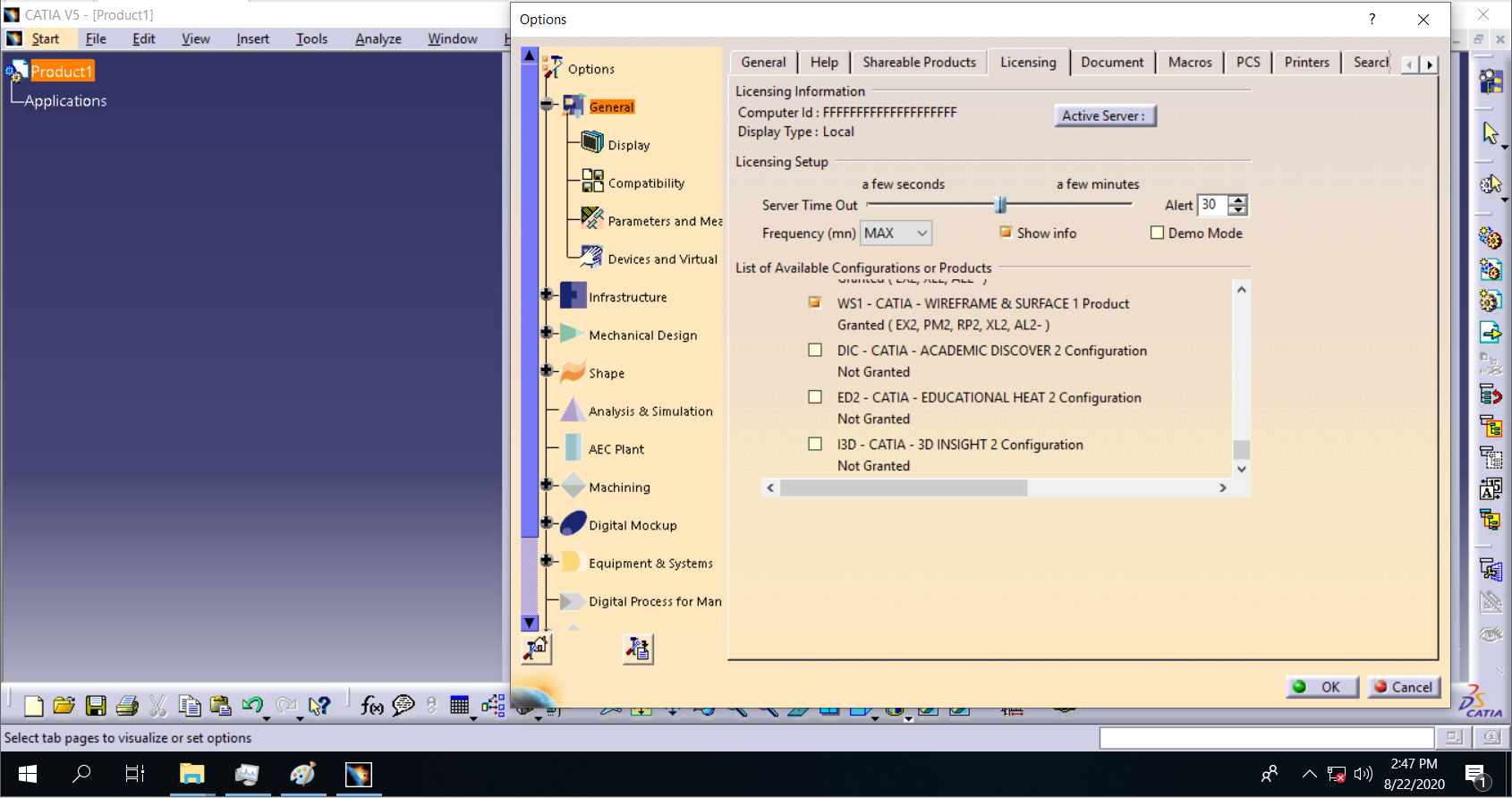 License of DS CATIA V5-6R2018 SP6 x64 full