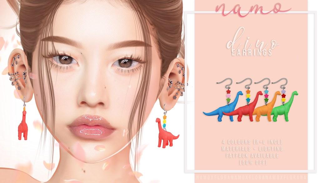 namo. dino earrings @FLORA