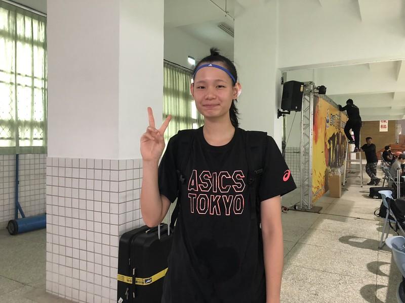 U18女籃隊長身兼HBL淡商隊長郭虹廷。(記者李沅芷/攝)