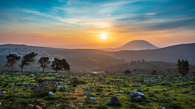 Sunrise over mount Tabor