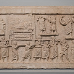 Roman relief with funeral procession from Amiternum