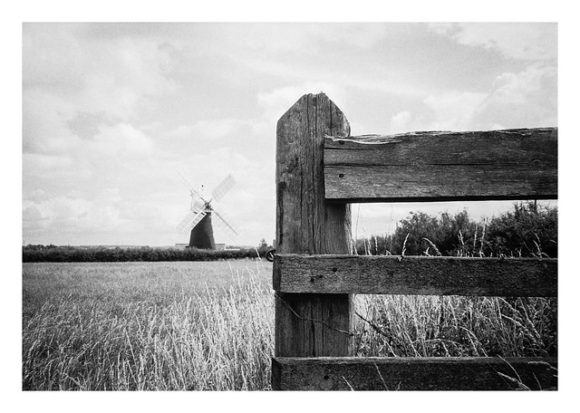 Windmill and fence
