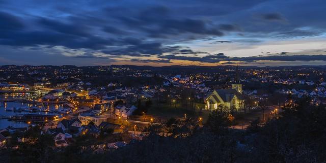 Evening over Grimstad
