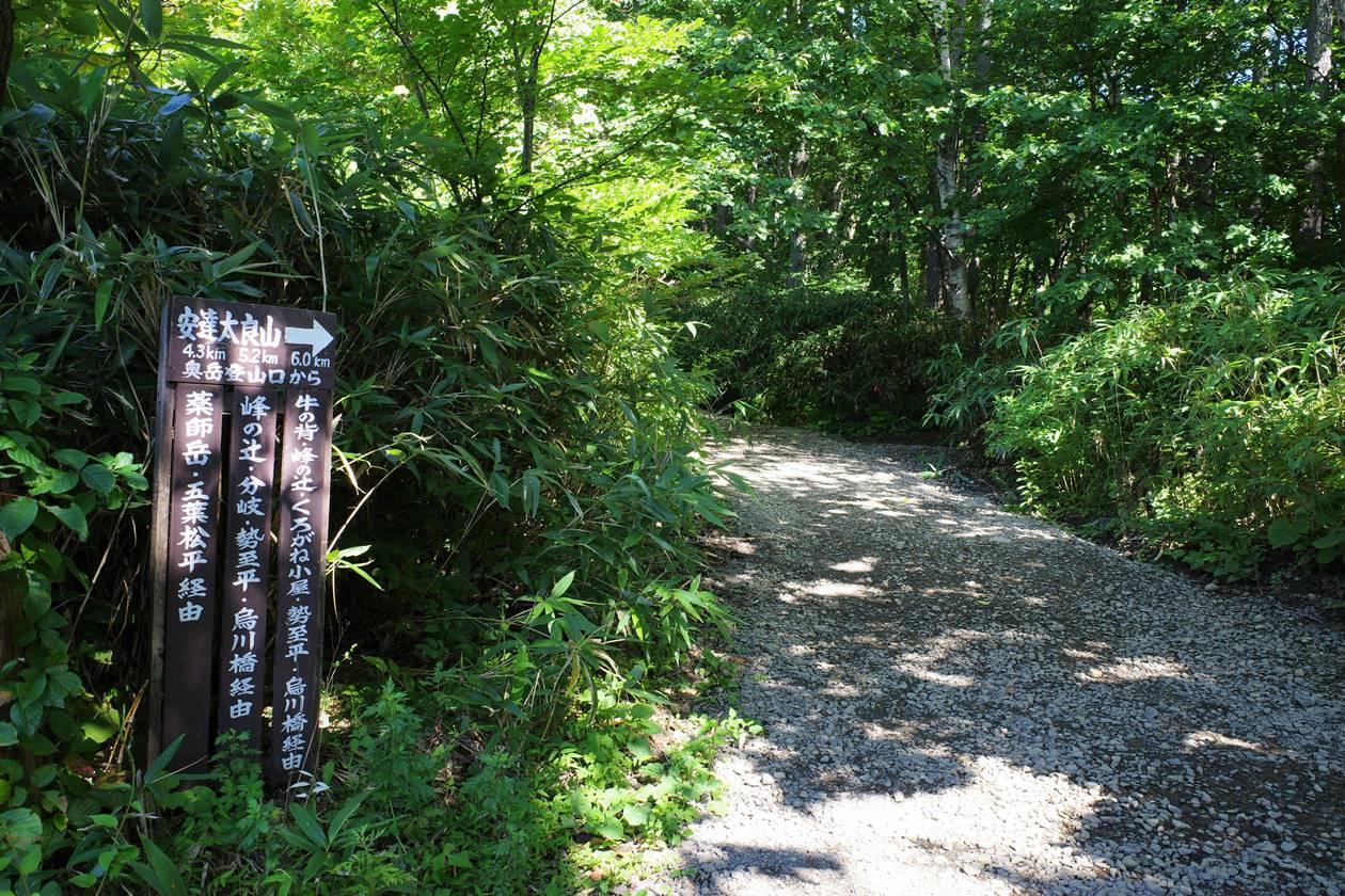 安達太良山奥岳登山道入口