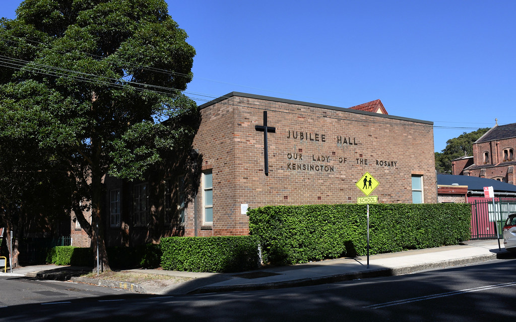 Jubilee Hall, Our lady of the Rosary Church, Kensington, Sydney, NSW.