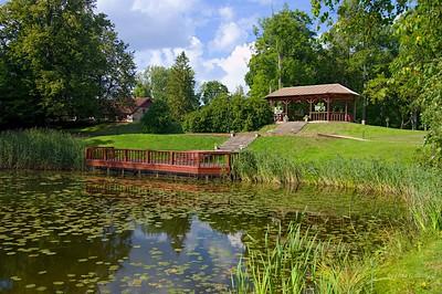 Pond near the Jaunmokas Manor