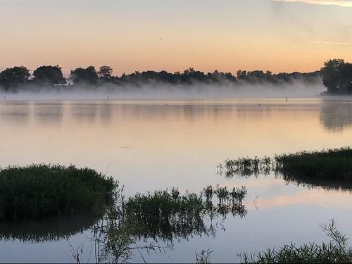 buckeyetrail ohio camping maumeeriver sunrise river mist