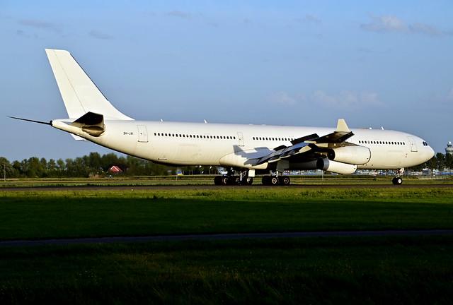 9H-JAI A340-313X cn 236 HiFly Malta (unmarked) 200821 Schiphol 1003