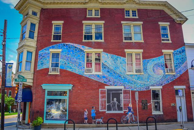 Building Mural in Historic Brunswick  MD